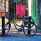 London Street Scene  - Parked Bicycle by NaturePrints