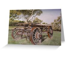 Logging Wagon Greeting Card