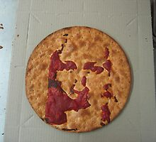 jesus in a pizza ii by Sui .jackson