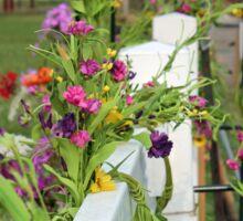 Flowered Fence Sticker