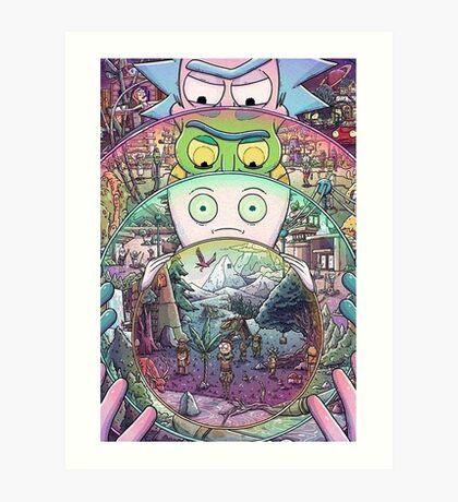 Rick's Multiverse Art Print