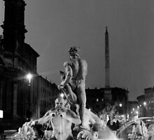 Navona square in Rome by iristudiophoto