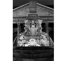 the Pantheon and the fountain della Rotonda in Rome Photographic Print