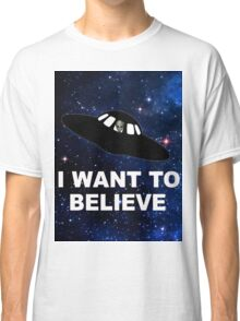 I Want to Believe 2014 V1 ( Clothing & Stickers ) Classic T-Shirt