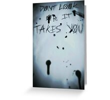Slender man- Dont look or it takes you Greeting Card