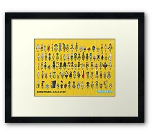 92 Card Back Framed Print
