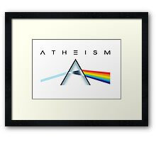 ATHEISM - A prism for seeing the light (Light backgrounds) Framed Print
