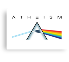 ATHEISM - A prism for seeing the light (Light backgrounds) Canvas Print