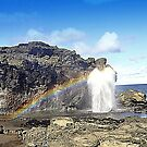 Blowhole Rainbow by Bob Moore