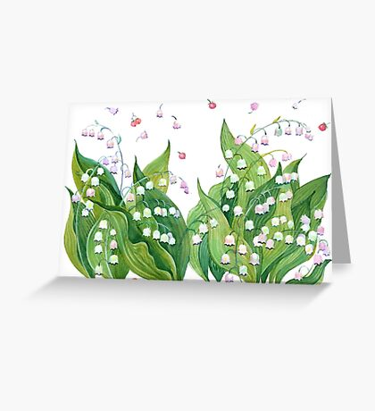 Fresh flowers lily of the valley Greeting Card