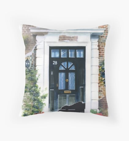 7 DOORS OF LONDON Throw Pillow