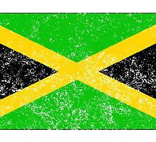 Distressed Jamaica Flag by kwg2200