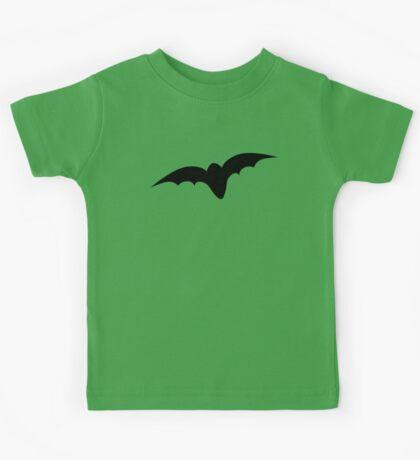 Simple black bat Kids Tee