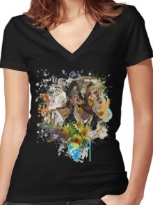 Ephemera III: The Detective and the Blogger Women's Fitted V-Neck T-Shirt