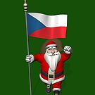 Santa Claus With Flag Of Czech Republic by Mythos57