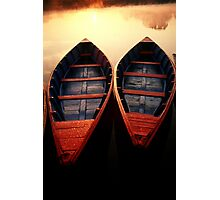 2 Boats, Nepal Photographic Print