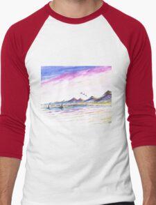Purple Skies Men's Baseball ¾ T-Shirt