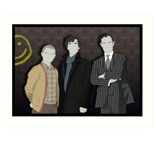 Sherlock Office party Art Print