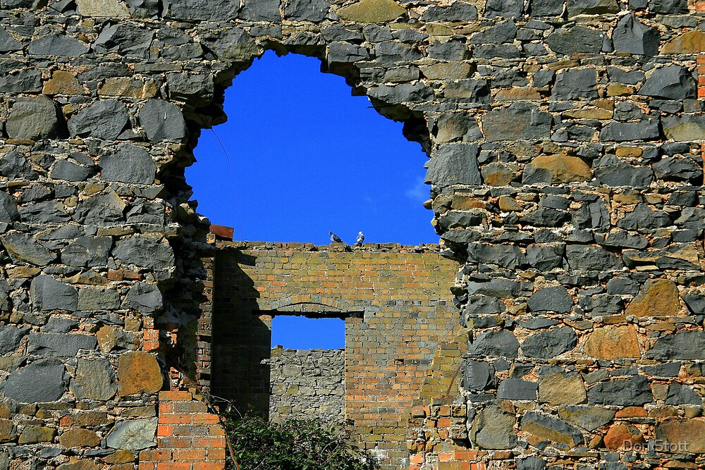 Bishop's house in ruins. Holey,holy. by Don Stott