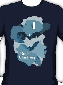 I Heart Rock Climbing Graphic Tee in Blue T-Shirt