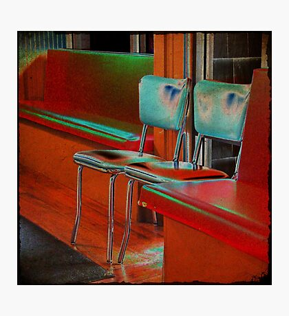 bubba's chairs Photographic Print