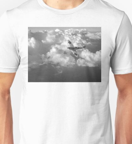 Soaring silver Spitfire black and white version Unisex T-Shirt