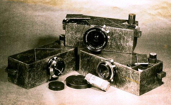 My Dad's homemade camera's by Juilee  Pryor