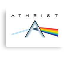 ATHEIST - A prism for seeing the light (Light backgrounds) Canvas Print