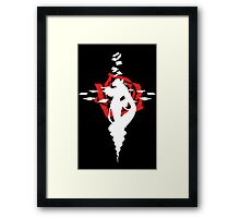 Twisted Fate Rose Black Framed Print