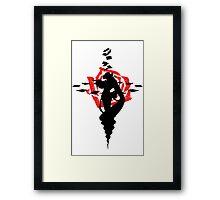 Twisted Fate Rose Framed Print