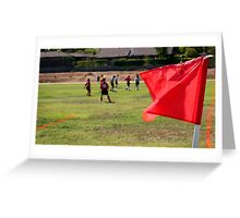 Soccer Corner With Players Greeting Card