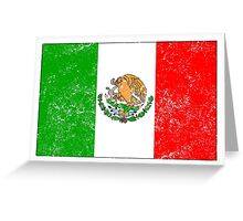 Distressed Mexico Flag Greeting Card