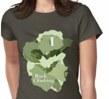 I Heart Rock Climbing Graphic Tee in Green Womens Fitted T-Shirt