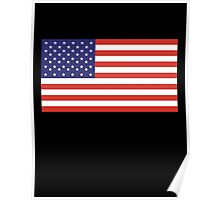 American Flag, America, Stars & Stripes, USA, Americana, Pure & Simple, on BLACK Poster