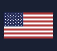 American Flag, Stars & Stripes, USA, Pure & Simple, on BLACK by TOM HILL - Designer