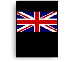 Union Jack, British Flag, UK, United Kingdom, Blighty, Pure & simple 1:2 on BLACK Canvas Print