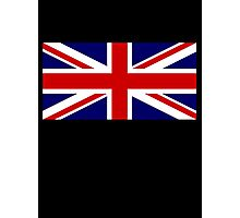 Union Jack, British Flag, UK, United Kingdom, Blighty, Pure & simple 1:2 on BLACK Photographic Print