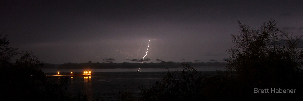 Nightcliff Jetty Lightning, NT by Brett Habener