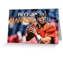 Peyton Manning MVP Design Greeting Card