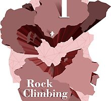 I Heart Rock Climbing Graphic Tee in Pink by andabelart