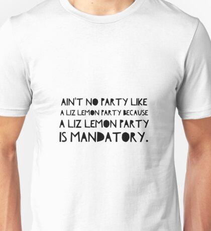 Liz Lemon Party Unisex T-Shirt