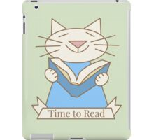 Time to Read Cat iPad Case/Skin