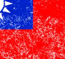 Distressed Taiwan Flag Sticker