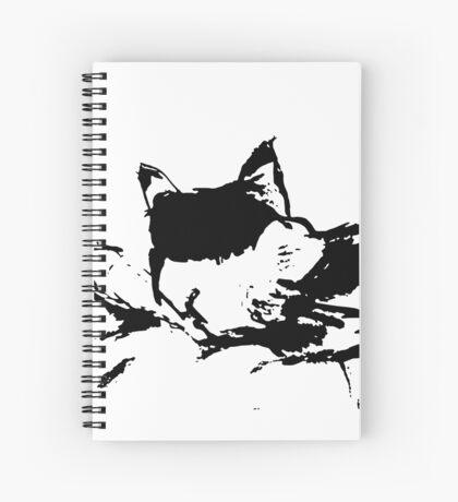 Sleeping Callie Kitty Spiral Notebook