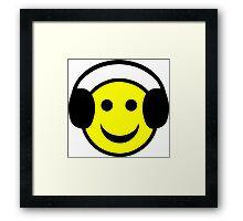 Headphone Smiley Framed Print