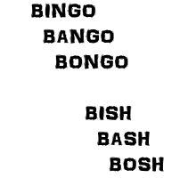 Bingo Bango Bongo Photographic Print
