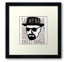 Breaking Bad: Heisenberg Framed Print