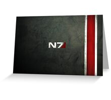 N7 Greeting Card