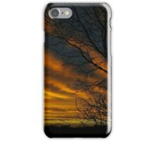 Red Sky Silhouette iPhone Case/Skin