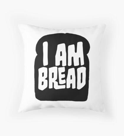 I am Bread 'mono' logo - Official Merchandise Throw Pillow